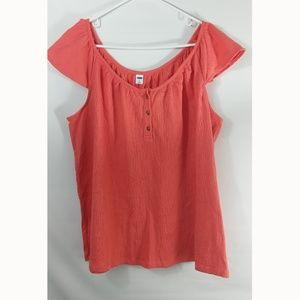 Old Navy Womans Pullover Top Short Sleeve XL